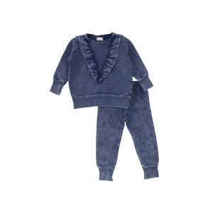DENIM RUFFLE SET BLU/WA 2T