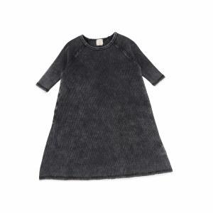 DENIM WASH DRESS 3/4 BLKWASH