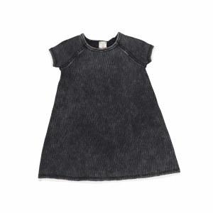 DENIM WASH DRESS BLK S/S