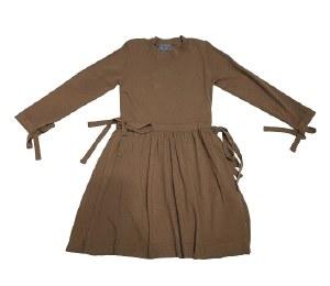 DRAWSTRING DRESS TAN 6
