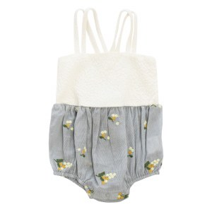 EMBROIDERED BUBBLE WHT 6M