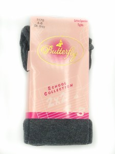 FLAT COTTON TIGHTS DGRY 10-12