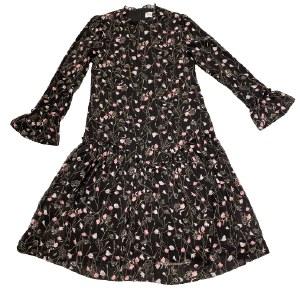 FLORAL DRESS BLK M