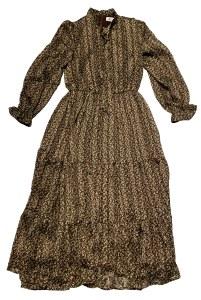 FLORAL DRESS BRN XXS