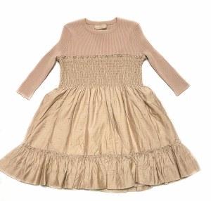 GALION GIRL DRESS TAN 3