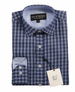 GINGHAM SHIRT INK/BLU 2-3