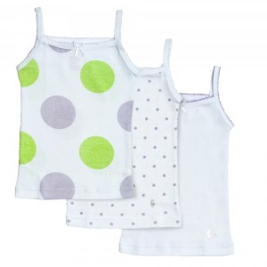 GIRLS POLKADOTS UNDERSHIRTS  2