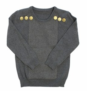 GOLD BUTTON SWEATER CHRCL 2