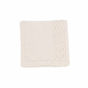KNIT CABLE BLANKET ECR ONESIZE