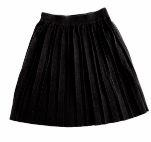 KNIT PLEATED SKIRT BLK 4