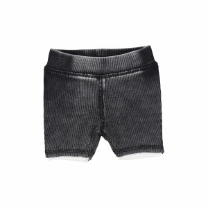 LIL LEGS DENIM WASH SHORTS BLK