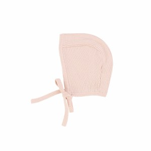 LIL LEGS KNIT BONNET SOF/PIN N