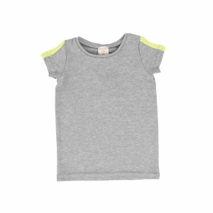 LIL LEGS LINEAR TEE S/S GY/NEO
