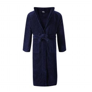 MENS TERRY ROBE NVY S