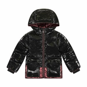 METALLIC PIPING COAT BLK/RBY6