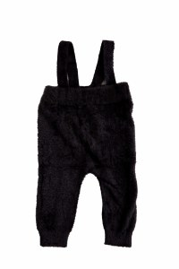 MOHAIR BABY OVERALL BLK 12M
