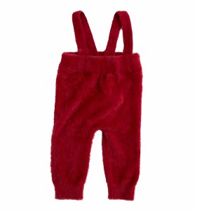 MOHAIR BABY OVERALL RED 12M