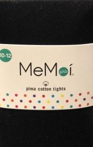 PIMA COTTON TIGHTS  BLK 12-14
