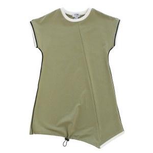 PIPED DRESS KHA 2