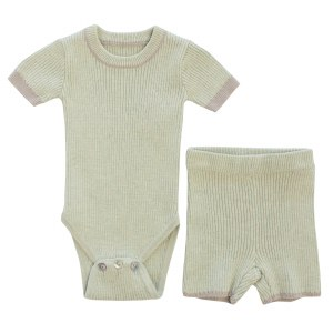 PIPED KNIT SHORT SET MIT 6M