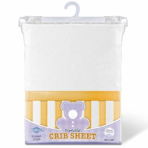 PORTABLE CRIB SHEETS WHT