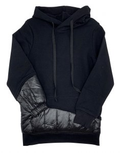 QUILTED HOODIE BLK 18M
