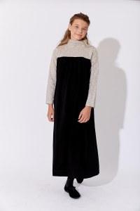 RAWLINS DRESS BLK/GY 12