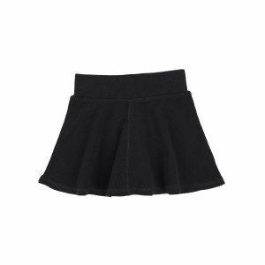 RIBBED SKIRT  BLK 3T