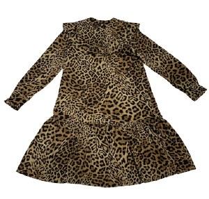RUFFLE YOKE DRESS LEO 14