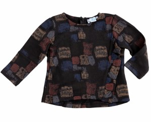SQUARE BABY GIRL TOP BLK 12-18