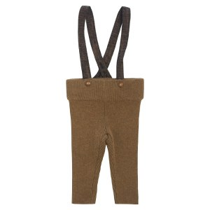 STRAP KNIT OVERALL BRN 2