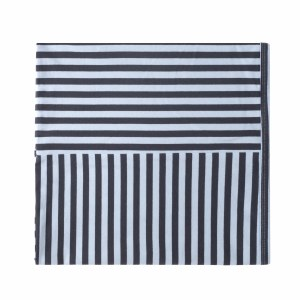 STRIPED BLANKET BLU