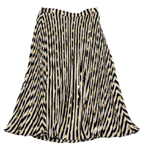 STRIPED WITH METALLIC SKIRT BL