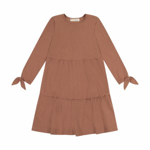 TIERED TIE DRESS CML 6