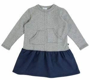 TOPSTITCH DRESS GY 3