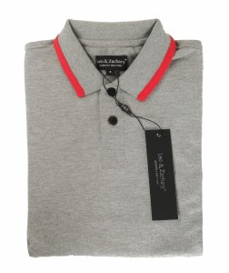 TRIM POLO GY/RED 2