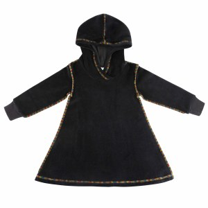 VELOUR COLORFUL STICHING BLK 8