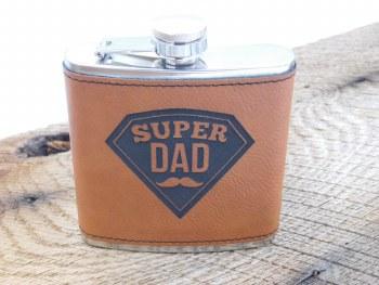 Flask Super Dad Tan Black