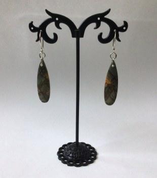 Jasper Dangle Earrings Silver