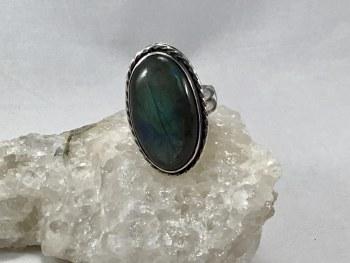 Labrdorite Sterling Silver Ring Sz 8