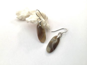 Agate Drops Sterling Silver Earrings