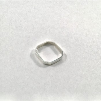 8 Side Sterling Silver Ring Sz 7