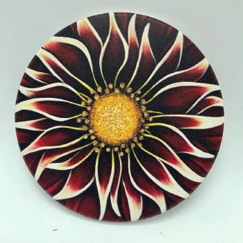 Ceramic Flower Print Coaster