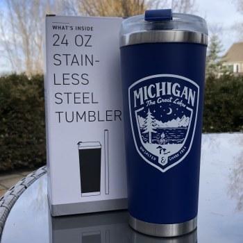 Michigan Shield Stainless Steel Tumbler 24 oz.