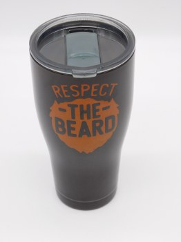 Respect The Beard Tumbler 30 oz