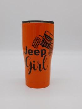 Jeep Girl Tumbler Orange 20 oz