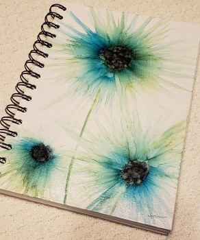 Watercolor NotebookTurquoise Pretties 6x8