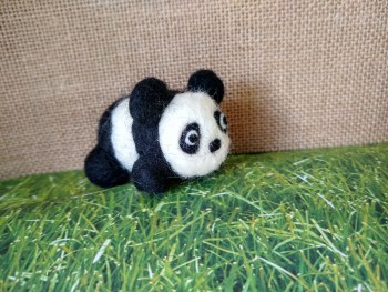 Take & Make a Needle-Felted Panda Kit