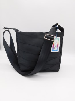 Seat Belt Purse - Black Tall Black Crossbody