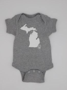 Onesie Michigan Mit 12 Mo Grey